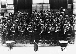 Sousa and the Marine Coprs Band in 1893