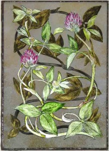 red-clover_gold_leaf_and_oil_on_glass_21x15_jpg