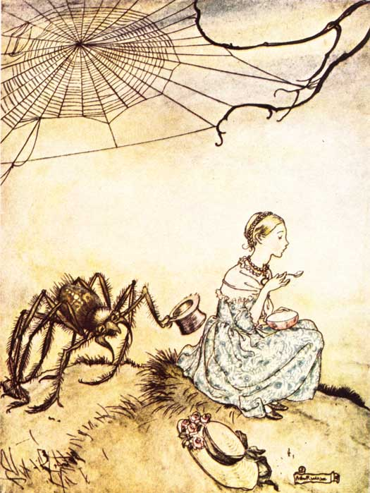 Little Miss Muffet, Arthur Rackham