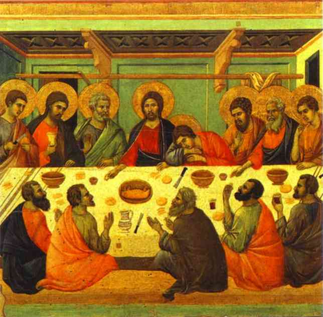 The Last Supper, Duccio di Buoninsegna (ca. 1255-1319)