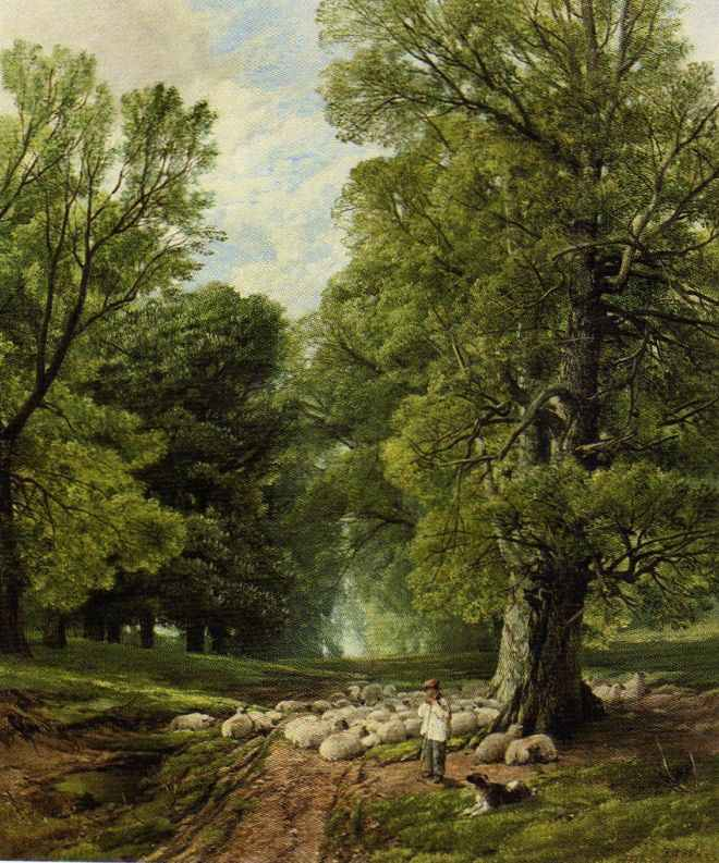 A Shepherd and His Flock, Frederick William Hulme