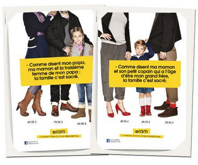 French Shoe Ads Feature the Modern Family « The Thinking Housewife