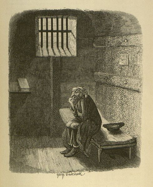 Fagin in his cell; George Cruikshank