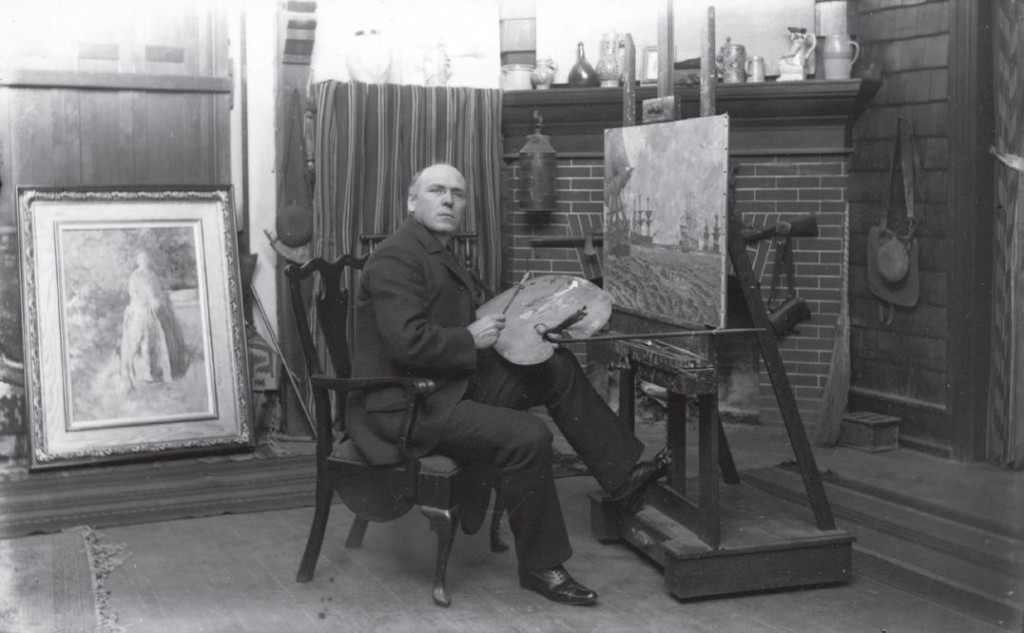 Pyle in his studio