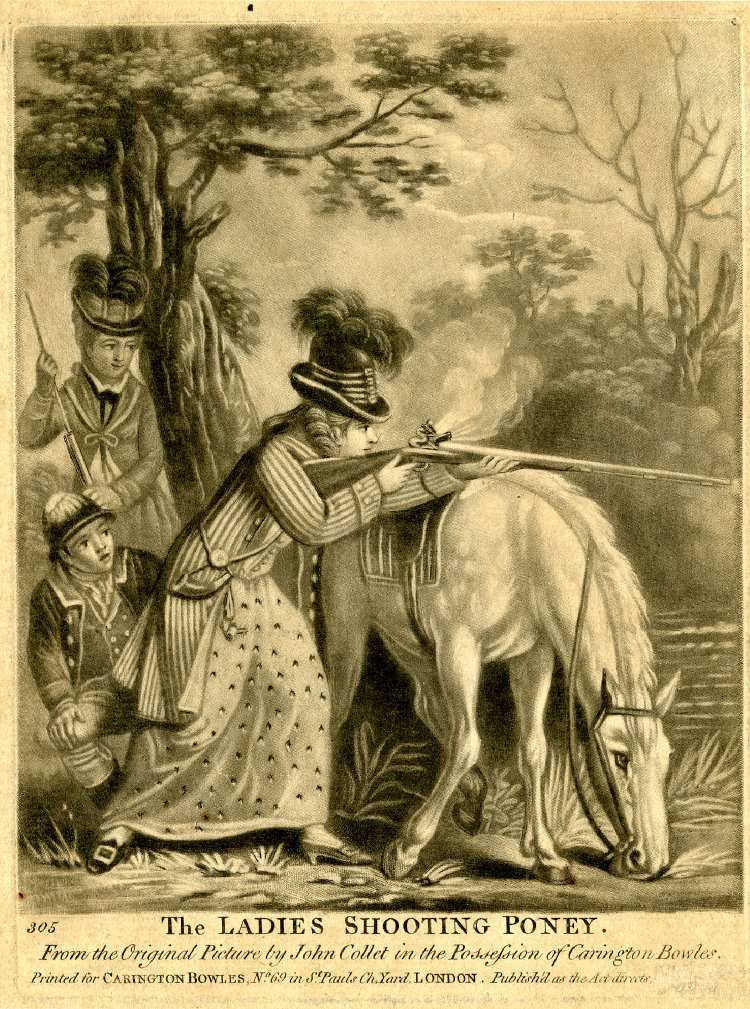 The Ladies Shooting Poney, John Collet (1780)