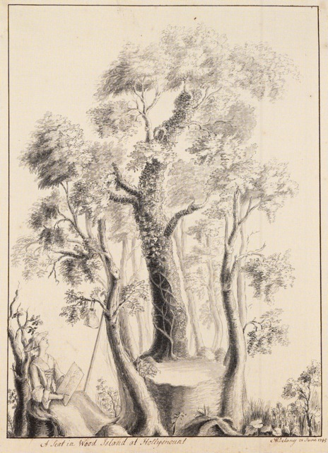 A Seat in Wood Island at Holly-Mount, Mary Delany; 1745