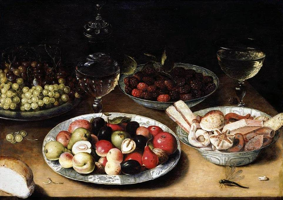 Still-Life of Fruit, Osias Beert; 1610s