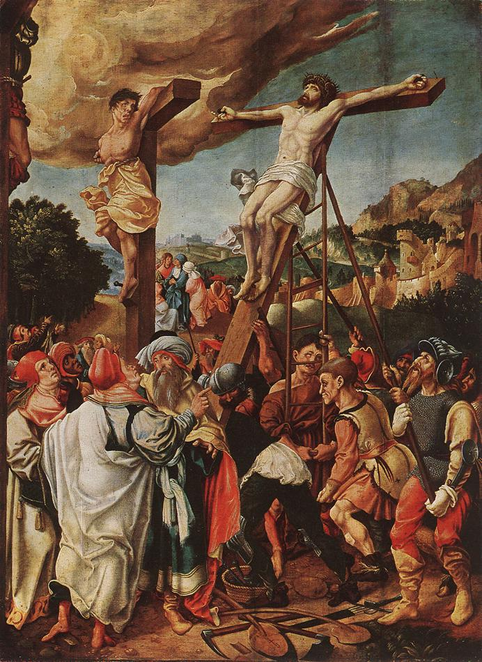 Crucifixion, Jörg Breu the Elder; 1524