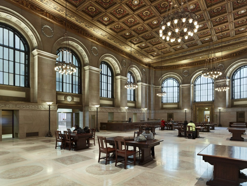 The Great Hall of the St. Louis Public Library