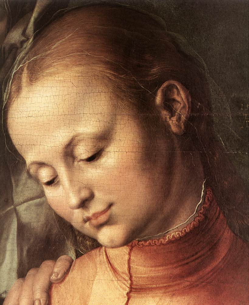 St Anne with the Virgin and Child (detail) 1519