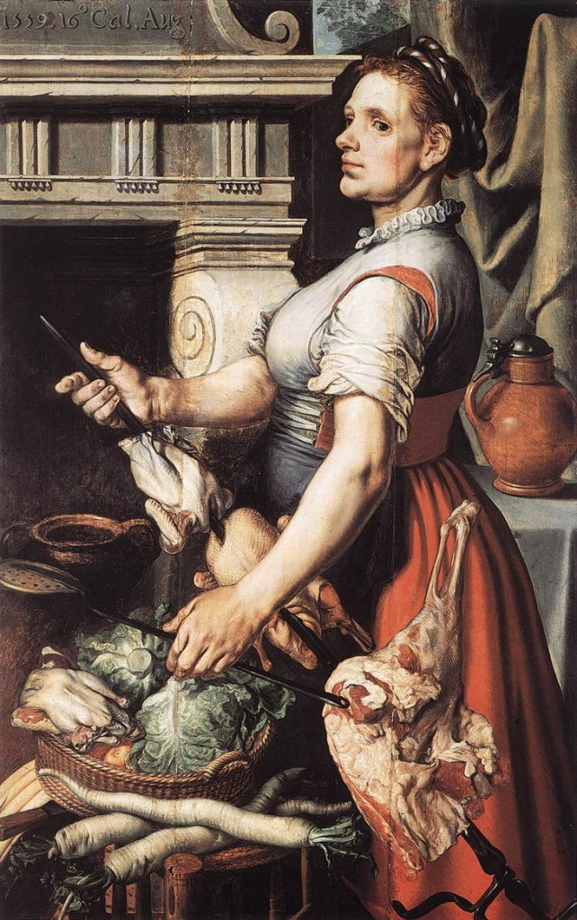 AERTSEN, Pieter Cook in front of the Stove 1559