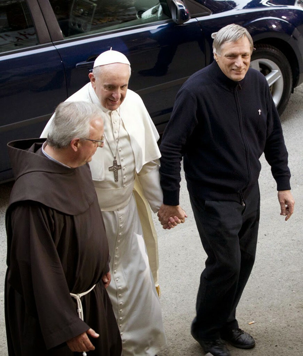 In March, Francis publicly took the hand of Fr. Luigi Ciotti, an openly pro-homosexual priest.