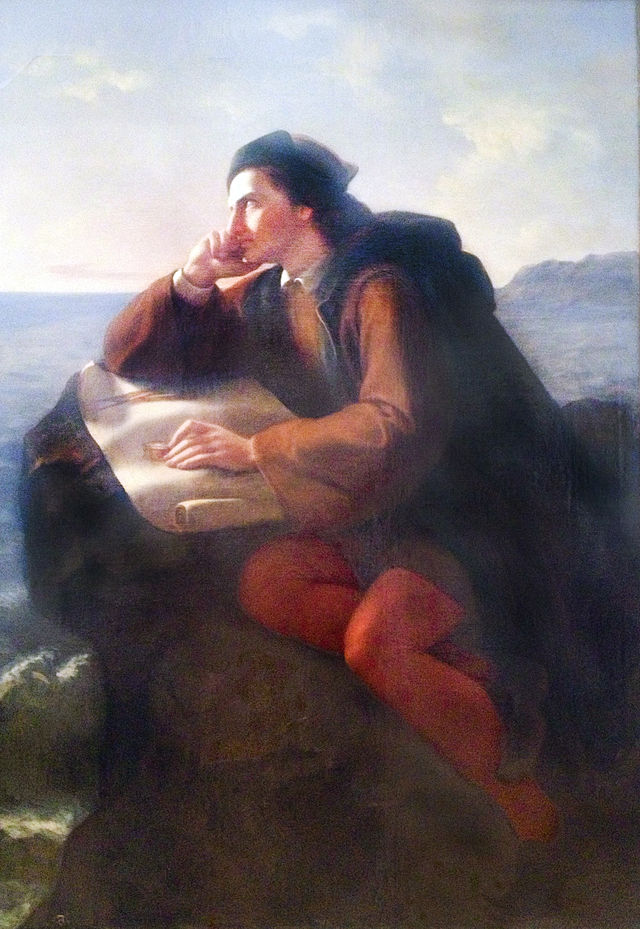 Inspirationof Christopher Columbus, Jose Maria Obregon; 1856
