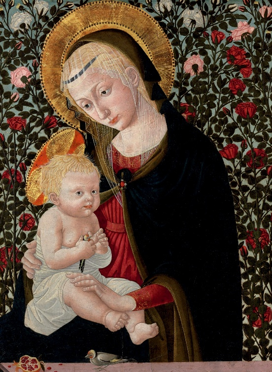 Pseudo-Pier Francesco Fiorentino (active Florence, second half of the 15th Century) Madonna and Child with Goldfinch (2)