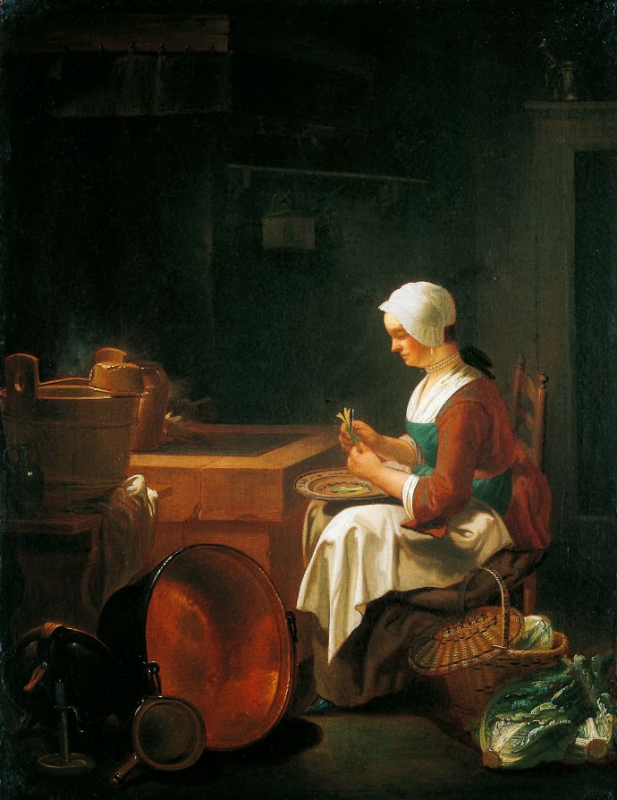 Justus Juncker (1703-1767) The Maid in the Kitchen