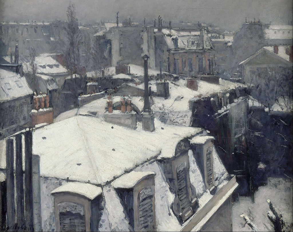 Rooftops in the Snow, Gustave Caillebotte