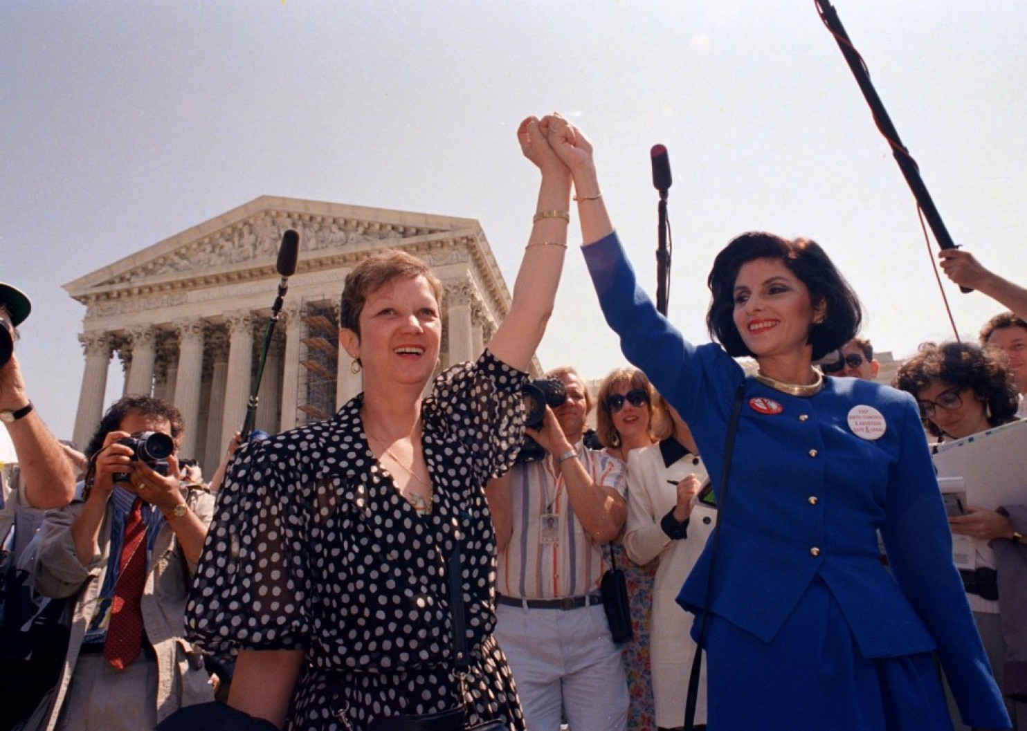 Norma McCorvey, in 1974,right