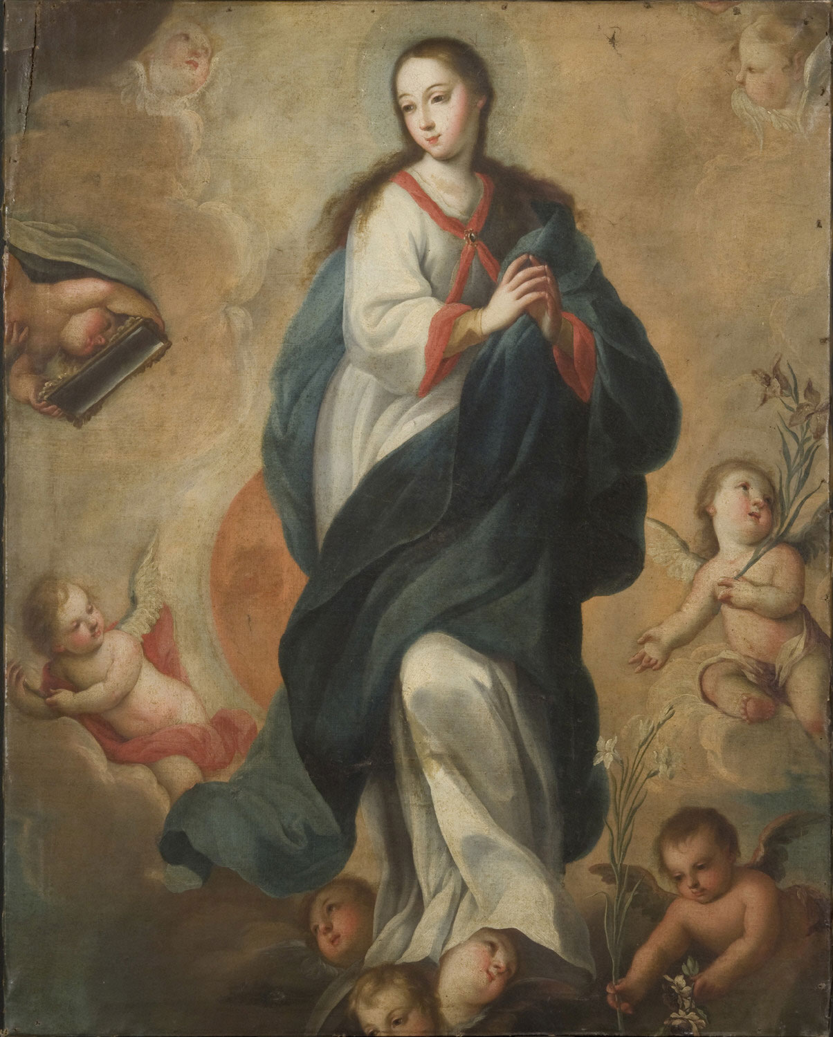 Assumption of the Virgin, 18th century; unknown Mexican artist