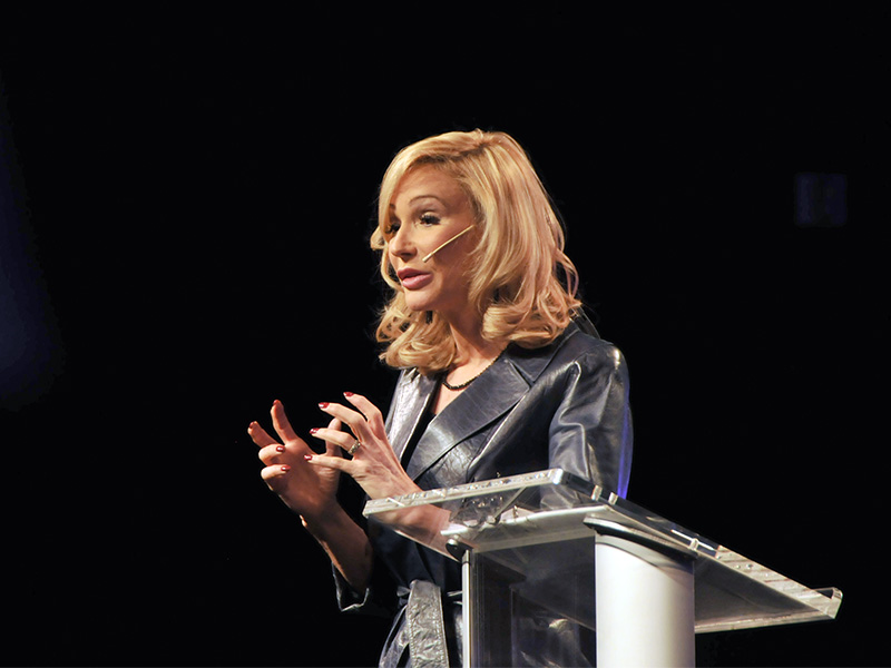 Paula White speaks at her church, New Destiny Christian Center, on Jan. 1, 2017, in Apopka, Fl. Photo courtesy of Sarah M. Brown