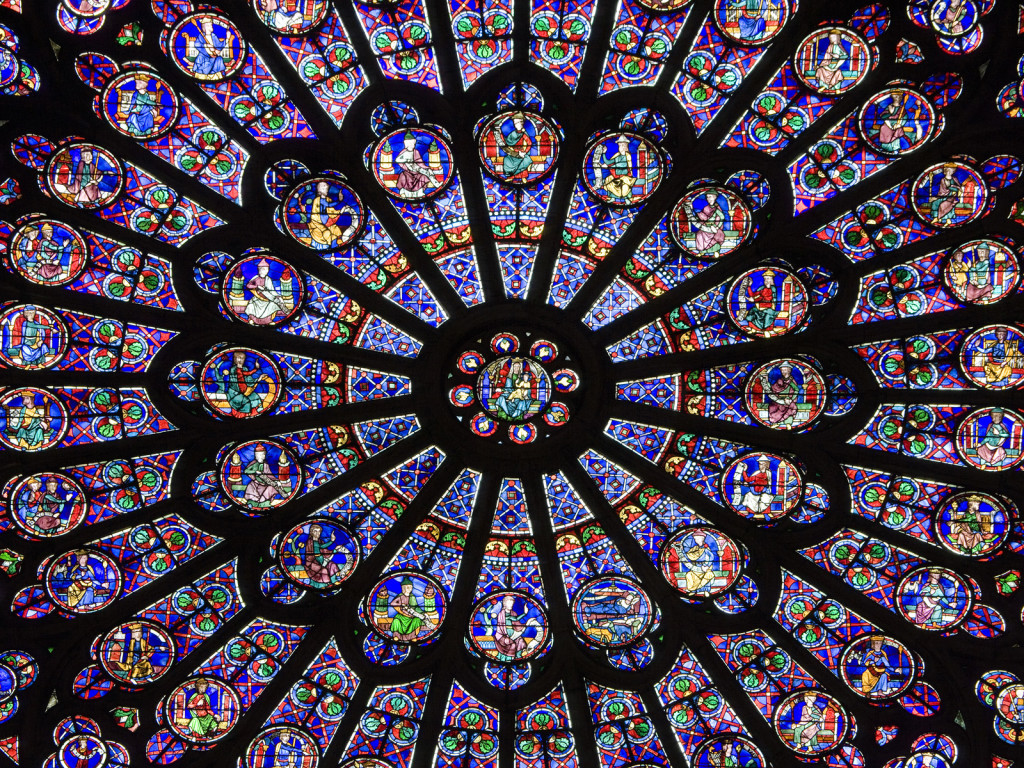Notre-Dame Cathedral, North Rose Window, Paris, France